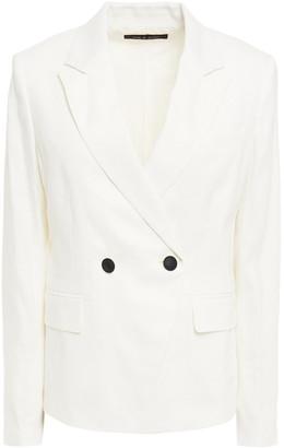 Rag & Bone Double-breasted Linen-blend Blazer