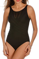 Miraclesuit One-Piece Solid High-Neck Swimsuit