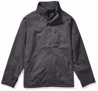 Izod Men's Big & Tall Water Resistant Midweight Jacket with Polar Fleece Lining