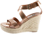 Lanvin Metallic Espadrille Wedge Sandals