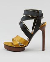 Lanvin Crisscross Satin Sandal