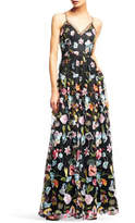 Aidan Mattox Floral Evening Gown