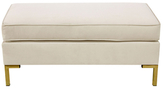 Skyline Furniture Welted Linen Pillowtop Bench