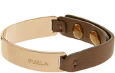 Furla Lace Brown Leather and Metal Bracelet
