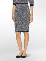 Calvin Klein Womens Eyelash Midi Skirt