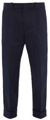 Acne Studios Pierre Cuff Stretch-cotton Trousers - Navy