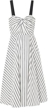 Jason Wu Grosgrain-trimmed Striped Cotton-poplin Dress
