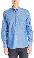 Stone Rose Men's Jacquard Chambray Long Sleeve Button Down Shirt