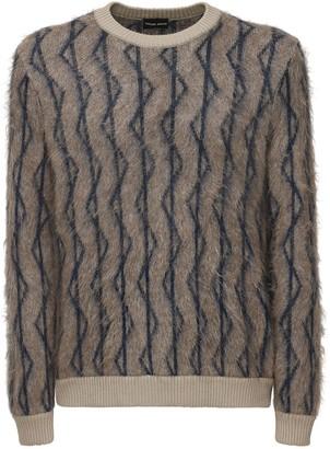 Giorgio Armani Raising Jacquard Mohair Blend Sweater