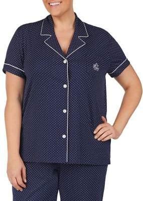 Lauren Ralph Lauren Plus 2-Piece Printed Cotton Shorty Pajama Set