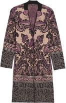 Etro Paisley Jacquard-knit Cardigan - Lilac