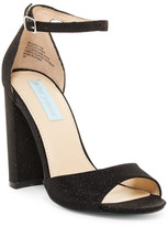 Betsey Johnson Carly Sparkly Block Heel Sandal