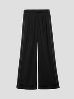 DKNY Wide Leg Pant With Cuff And Back Print