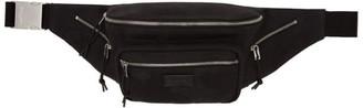 Saint Laurent Black Nylon Camouflage Bum Bag