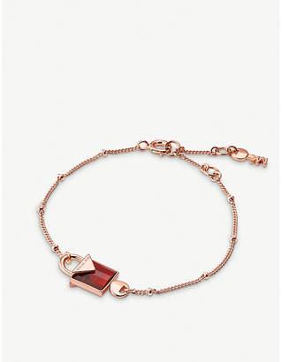 Michael Kors Kors Candy rose gold-plated silver padlock bracelet