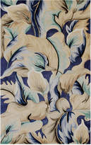 "Kas Catalina 756 Blue Calla Lilies 7'9"" x 10'6"" Area Rug"