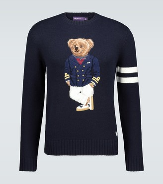 Ralph Lauren Purple Label Teddy knitted cashmere sweater