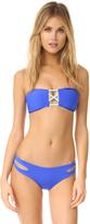 L-Space Color Block Jacques Bandeau Bikini Top