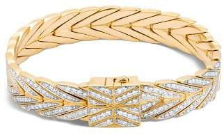John Hardy 18K Yellow Gold Modern Chain Bracelet with Diamonds