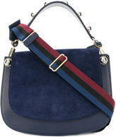 Carven panelled flap shoulder bag