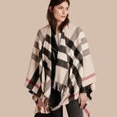 Burberry Check Cashmere and Wool Poncho