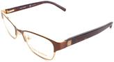 Tory Burch Havana & Brown Browline Eyeglasses