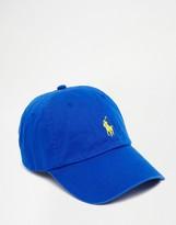 Polo Ralph Lauren Player Baseball Cap In Blue