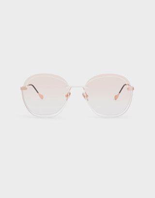 Charles & Keith Cut Out Gradient Lens Butterfly Sunglasses