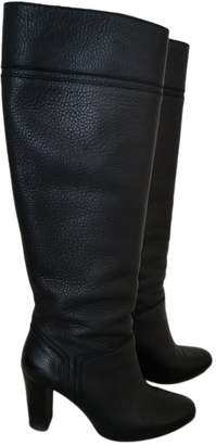 Tila March Black Leather Boots