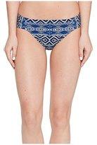 LaBlanca La Blanca Women's Designer Jeans Side Shirred Hipster Bikini Bottom