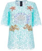 Romance Was Born 'King Neptune' lace T-shirt - women - Cotton/Nylon/Polyester - 6