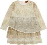 Missoni Ivory and hazelnut viscose knit dress