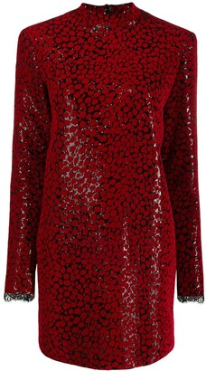 Philosophy di Lorenzo Serafini Leopard Print Sequin Dress