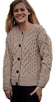 Carraigdonn Carraig Donn Ladies Irish Merino Wool Cardigan