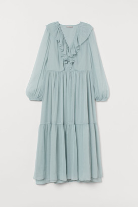 H&M Long Tiered Dress - Turquoise