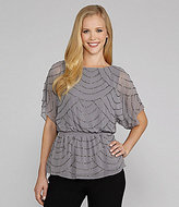 Adrianna Papell Bead-Embellished Blouson Top
