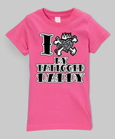 Micro Me Hot Pink 'I Love My Tattooed Daddy' Tee - Infant Toddler & Girls