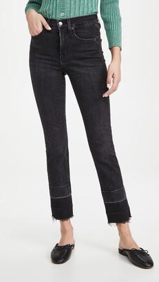 Veronica Beard Jeans Ryleigh Slim Straight Deep Hem Jeans