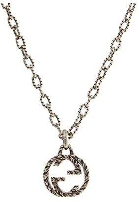 Gucci Interlocking Pendant Necklace (Silver) Necklace
