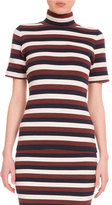 Victoria Beckham Short-Sleeve Striped Top, Multi Colors