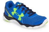 Under Armour Boy's Engage 3 Big Logo Sneaker