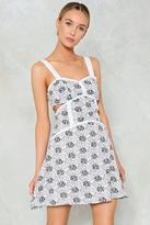 Nasty Gal nastygal Cut-Out For the Count Floral Dress
