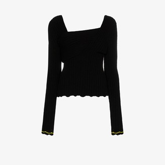 Bottega Veneta Asymmetric Rib Knit Top