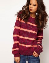 ASOS Stripe Twist Yarn Sweater
