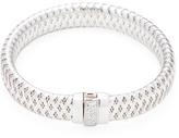 Roberto Coin Primavera 18K White Gold & 0.10 Total Ct. Diamond Flexible Bangle Bracelet
