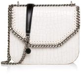 Stella McCartney White Croc Falabella Box Shoulder Bag