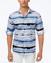 INC International Concepts Men's Distorted Wave Print Shirt, Created for Macy's