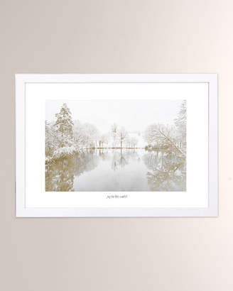Oliver Gal The Artist Co. Joy to the World Winter Scene Framed Print