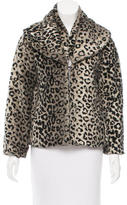 Alice + Olivia Faux Fur Printed Coat