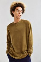 Urban Outfitters Nelson Waffle Thermal Henley Long Sleeve Tee